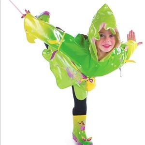 Kidorable Green Fairy PU Raincoat Girls